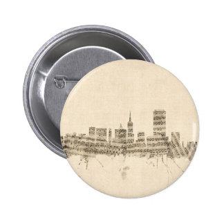 San Francisco Skyline Sheet Music Cityscape 6 Cm Round Badge