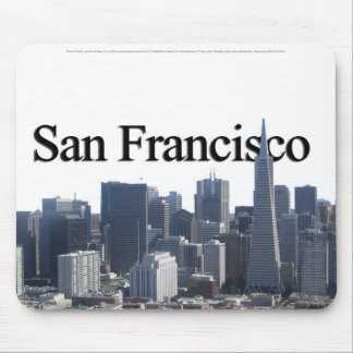San Francisco Skyline w San Francisco in the Sky Mouse Pads