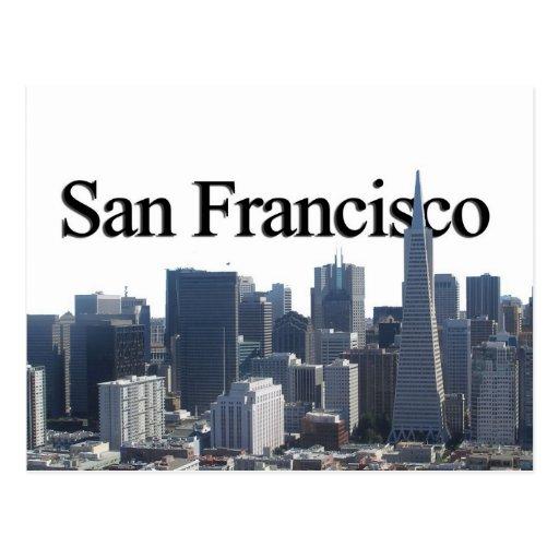 San Francisco Skyline w/ San Francisco in the Sky Postcards