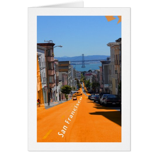 San Francisco, Street View of Bay Bridge Card