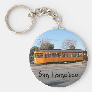 San Francisco Streetcar Basic Round Button Key Ring