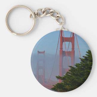 San Francisco Sunny Day Basic Round Button Key Ring