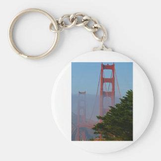 San Francisco Sunny Day Keychain