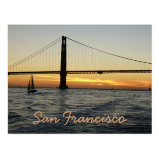San Francisco Sunset Postcard