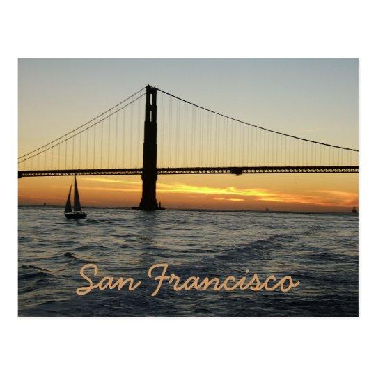 San Francisco Sunset Postcard