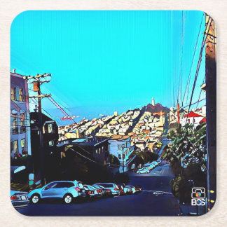 San Francisco Telegraph Hill Paper Coaster