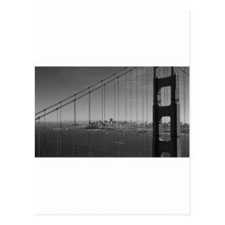 San Francisco through Golden gate Bridge Postcards