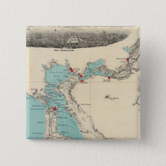 San Francisco to Sacramento 15 Cm Square Badge