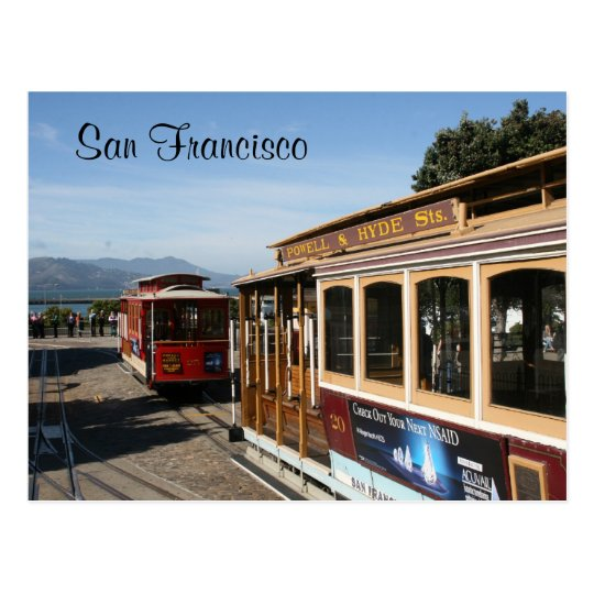 san francisco trams postcard