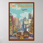 San Francisco Travel Poster - California Street