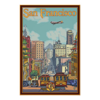 San Francisco Travel Poster - California Street
