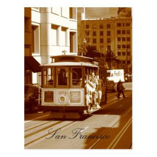 san francisco trolley car postcards