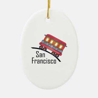 san francisco trolley christmas ornament