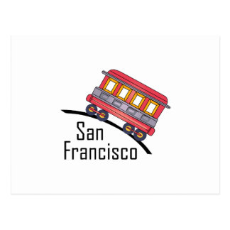 san francisco trolley postcard