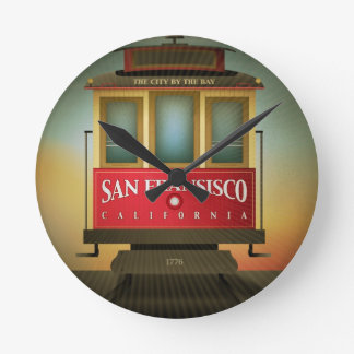 San Francisco Trolley Round Clock
