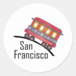 san francisco trolley round sticker