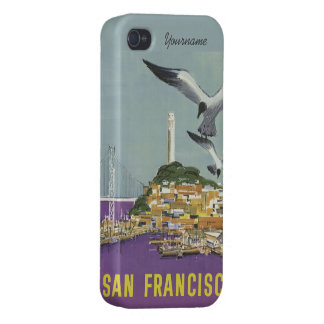 San Francisco USA Vintage Travel cases Covers For iPhone 4