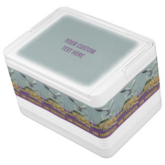 San Francisco USA Vintage Travel cooler Igloo Cool Box