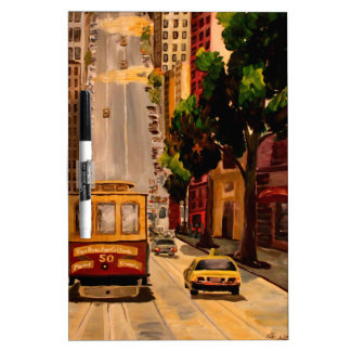 San Francisco Van Ness Cable Car Dry Erase Whiteboards