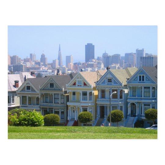 San Francisco Victorian Row Postcard