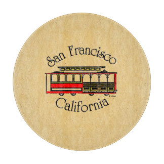 San Francisco-Vintage Cable Car Cutting Boards