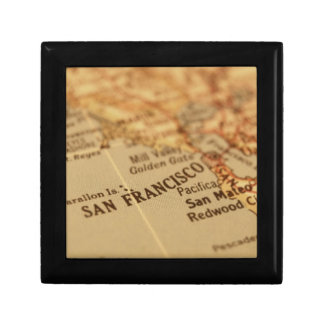 SAN FRANCISCO VINTAGE MAP GIFT BOX