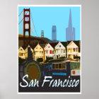 San Francisco Vintage Montage Travel Poster