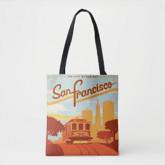 San Francisco Vintage Style Tote bag Trolley