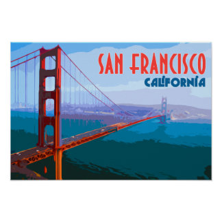 San Francisco Vintage Travel Art Poster