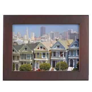 San Francisco's Famous Painted Ladies Keepsake Box
