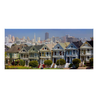 San Francisco's Famous Painted Ladies Poster