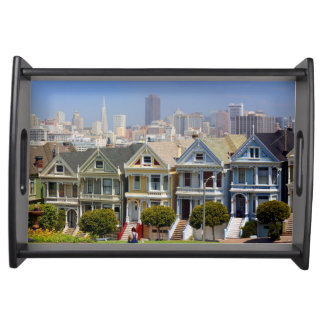 San Francisco's Famous Painted Ladies Serving Tray