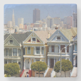 San Francisco's Famous Painted Ladies Stone Coaster