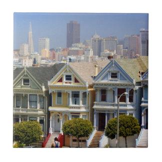 San Francisco's Famous Painted Ladies Tile
