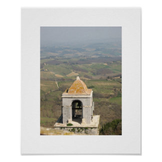 san gimignano bell tower and countryside print