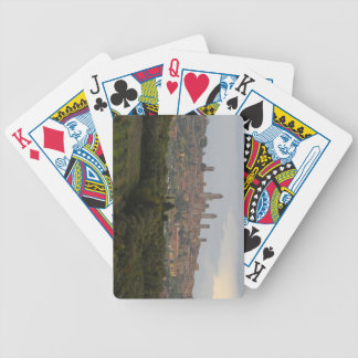 San Gimignano Italy Bicycle Poker Deck