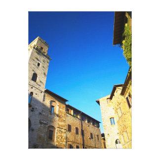 San Gimignano Old Town, Siena, Tuscany, Italy Canvas Print