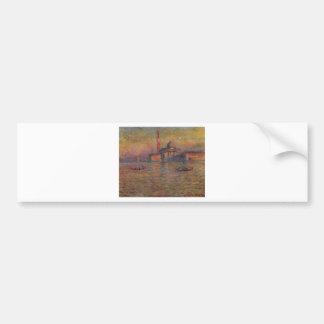 San Giorgio Maggiore 2 by Claude Monet Bumper Sticker