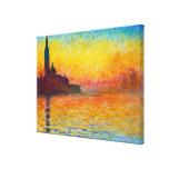 San Giorgio Maggiore at Dusk  Claude Monet Stretched Canvas Prints