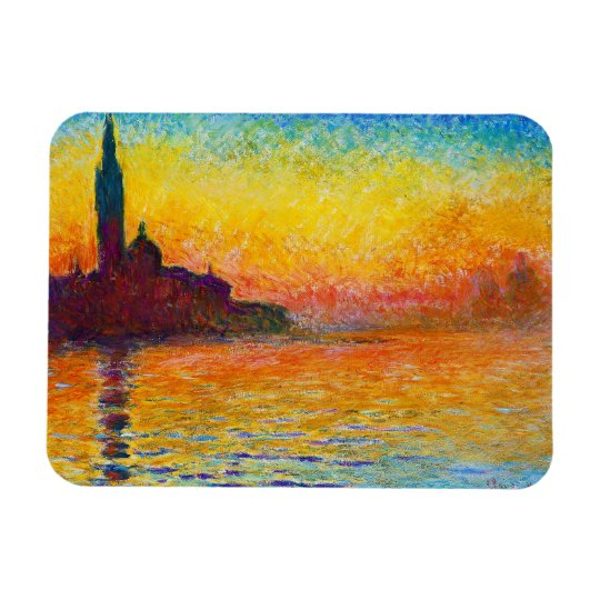 San Giorgio Maggiore at Dusk  Claude Monet Rectangular Photo Magnet