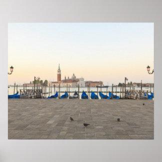 San Giorgio Maggiore viewed from Riva degli 3 Poster