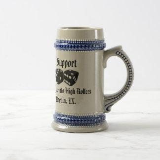 San Jacinto High Rollers Hardin, TX. Support Mug. Beer Steins