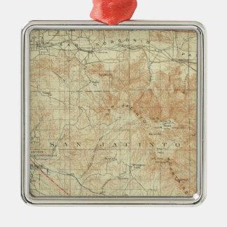 San Jacinto quadrangle showing San Andreas Rift Christmas Ornament