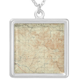 San Jacinto quadrangle showing San Andreas Rift Silver Plated Necklace