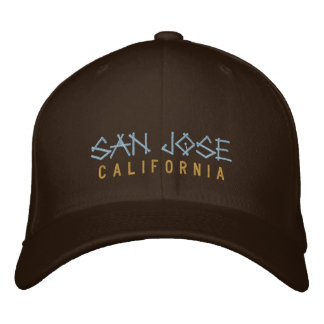 San Jose California Embroidered Hat on brown
