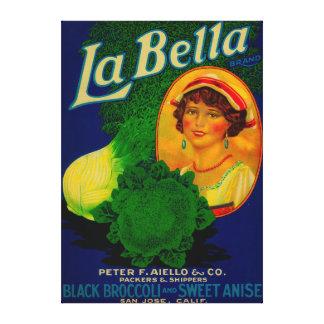 San Jose, CaliforniaLa Bella Vegetable Label Canvas Print
