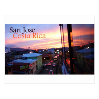 San Jose Costa Rica Sunset Postcard