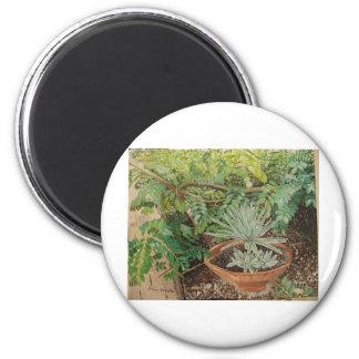 San Jose Mission Garden Painting 6 Cm Round Magnet