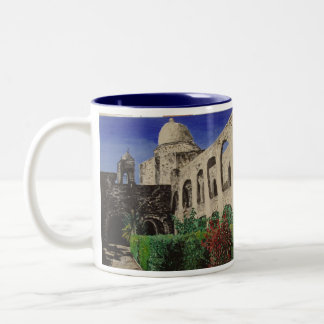 San Jose Mission & San Jose Mission #3 Paintings Two-Tone Coffee Mug