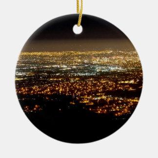 San Jose Night Skyline Christmas Ornament